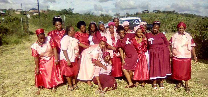 Abschlussfeier der Nähgruppe aus Mabhudle